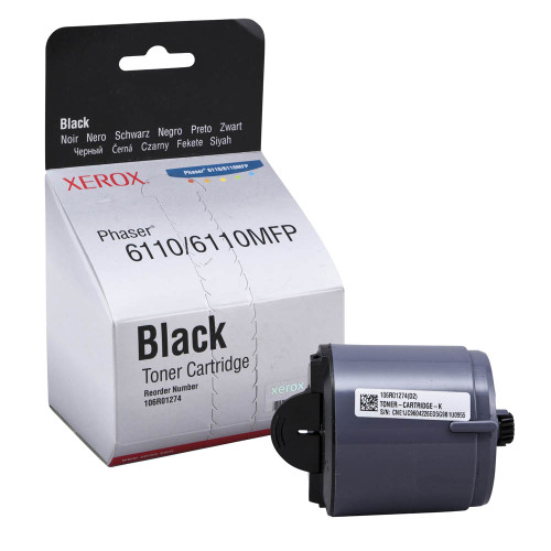 Original Xerox 106R01274 Black Laser Toner Cartridge for Phaser 6110/6110MFP Series