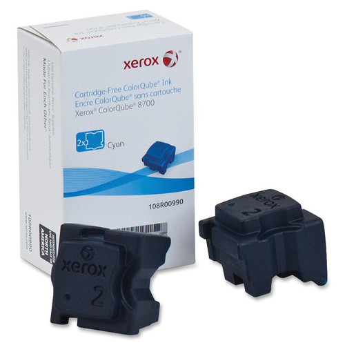 108R00990 | Original Xerox Ink Cartridge 2-Pack – Cyan