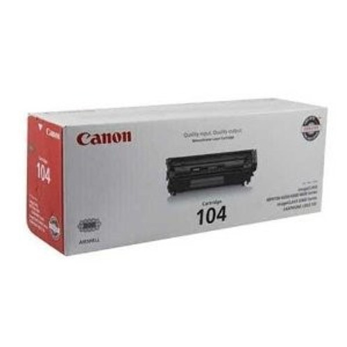 Original Canon 104 0263B001AA Black Laser Toner Cartridge