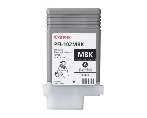 Original Canon PFI-102MBK 0894B001AA Matte Black Ink Cartridge