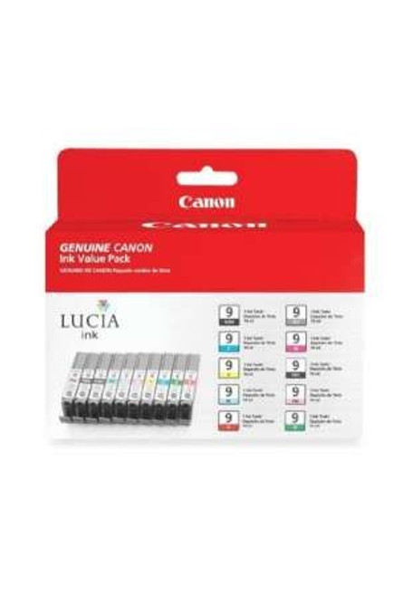 1033B005 | Canon PGI-9 | Original Canon Ink Cartridge Value Pack - Black, Photo Black, Gray, Photo Cyan, Photo Magenta