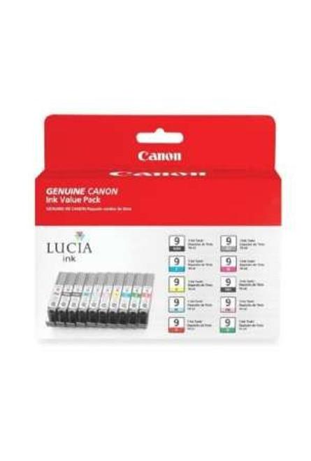 1033B005 | Canon PGI-9 | Original Canon Ink Cartridge Value Pack - Black, Photo Black, Gray, Photo Cyan, Photo Magenta
