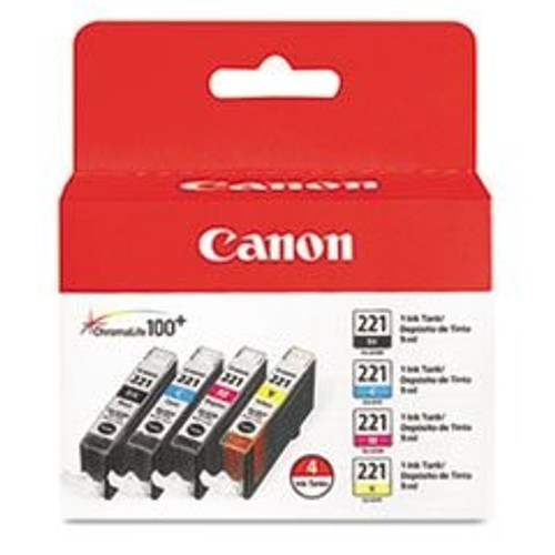 2946B004 | Canon CLI221 | Original Canon Ink Cartridges Combo Pack – Black, Cyan, Magenta, Yellow