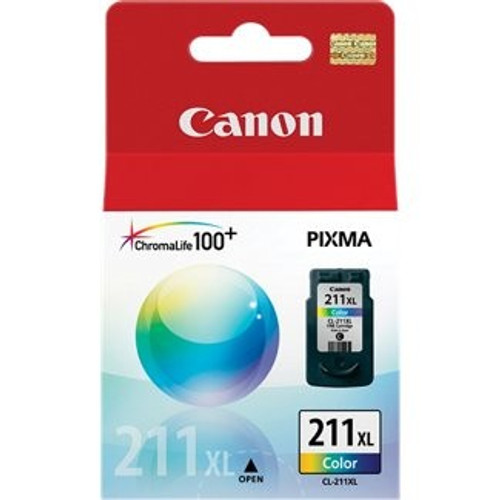 Original Canon CL211XL High Yield Color Inkjet Cartridge for MP240, MP480 &amp MX330