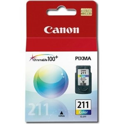 Original Canon CL211 Color Inkjet Cartridge for MP240, MP480 &amp MX330