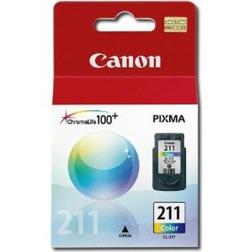 2976B001   Canon CL211   Original Canon Color Ink Cartridge - Tricolor