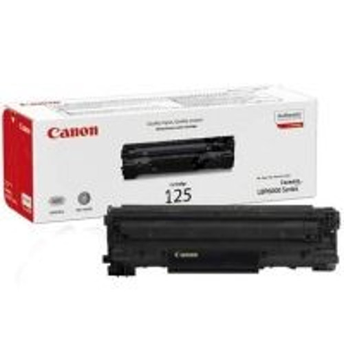 Original Canon 125 3484B001AA Black Laser Toner Cartridge