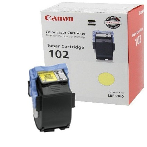 Original Canon CRG-102 9642A006AA Yellow Laser Toner Cartridge LBP5960 Printer