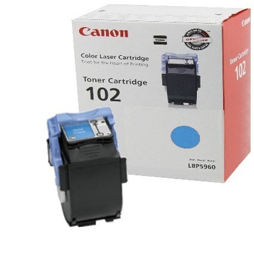 Original Canon CRG102 9644A006AA Cyan Laser Toner Cartridge LBP5960 LBP5960 Printer