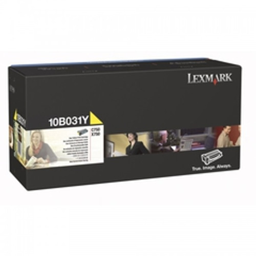 Original Lexmark 10B031Y C750 Yellow Toner Cartridge