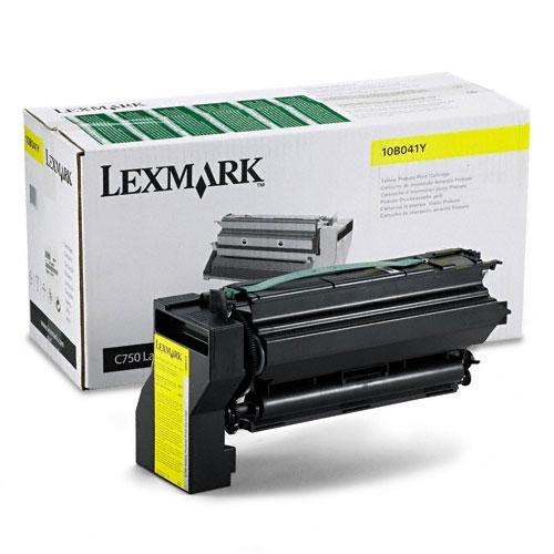 Original Lexmark 10B041Y C750 Yellow Prebate Return Program Toner Cartridge