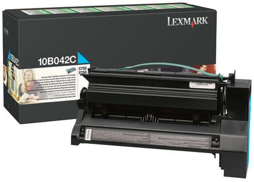 Original Lexmark 10B042C C750 Cyan Prebate High Yield Toner Cartridge