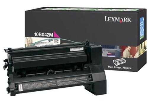 Original Lexmark 10B042M C750 Magenta Prebate High Yield Toner Cartridge
