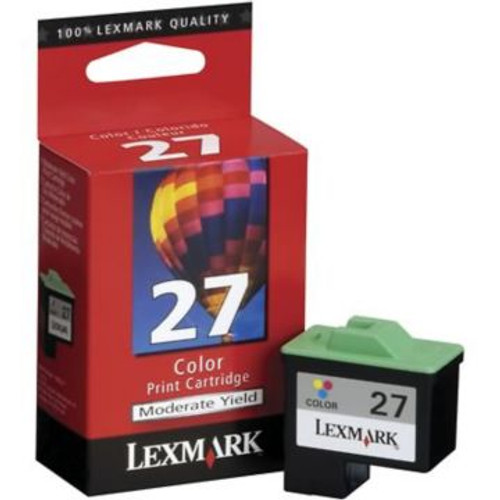 Original Lexmark #27 10N0227 Standard-Yield Inkjet Cartridge  Tri-Color
