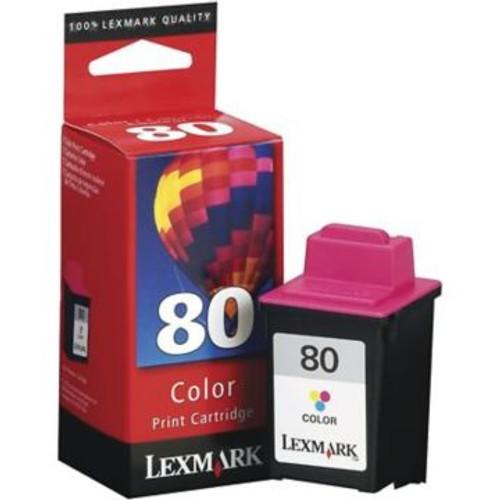 Original Lexmark #80 12A1980 Standard-Yield Inkjet Cartridge  Color