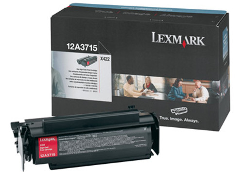 Original Lexmark 12A3715 X422 Black High-Yield Toner Cartridge