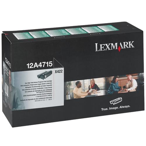 Original Lexmark 12A4715 High-Yield Laser Toner Cartridge  Black
