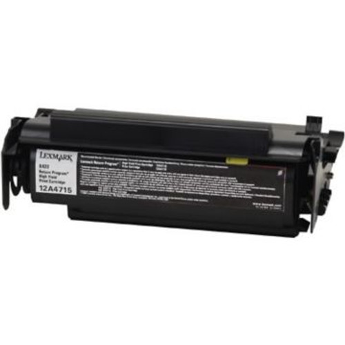 Original Lexmark 12A4715 High-Yield Laser Toner Cartridge  Black