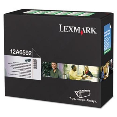 Original Lexmark 12A6592 Optra Black Return Program High-Yield Toner Cartridge Taa