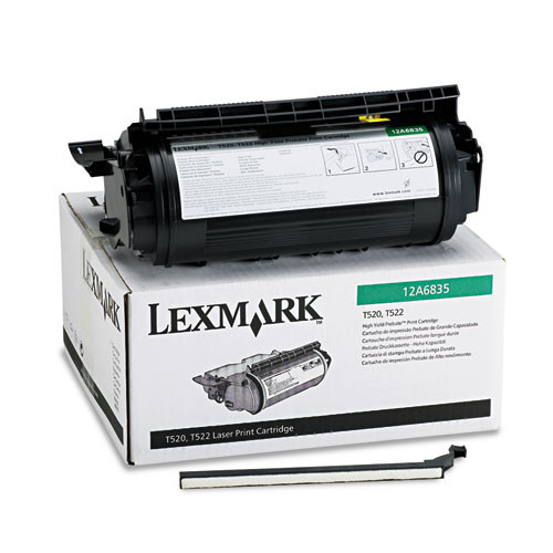 Original Lexmark 12A6835 Black High-Yield Toner Cartridge