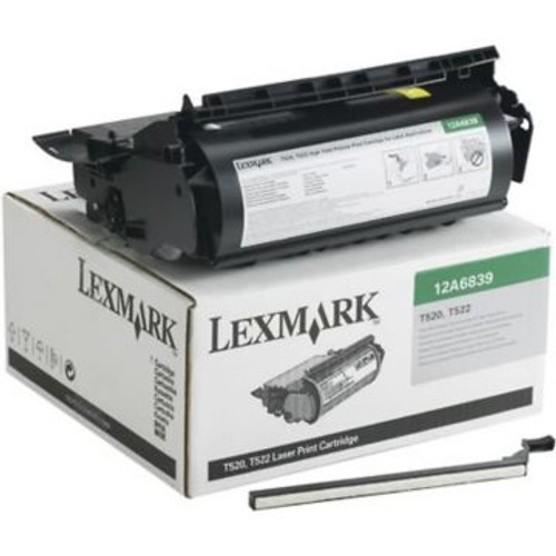 Original Lexmark 12A6839 *RP High-Yield Laser Print Cartridge for Label Applications  Black