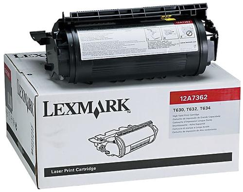 Original Lexmark 12A7362 T63x Black High Yield Toner Cartridge