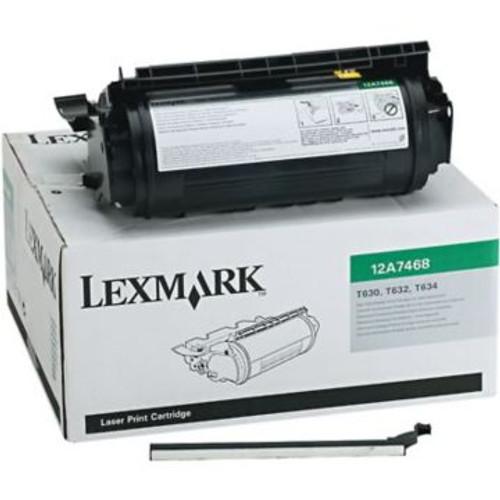 Original Lexmark 12A7468 Return Program High-Yield Laser Toner Cartridge  Black