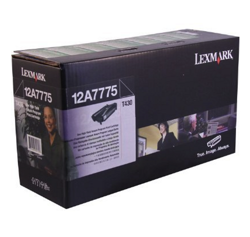 Original Lexmark 12A7775 T430 Black Return Program High-Yield Toner Cartridge Taa
