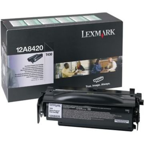 Original Lexmark 12A8420 Laser Toner Cartridge  Black