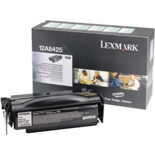 Original Lexmark 12A8425 High-Yield Laser Toner Cartridge  Black