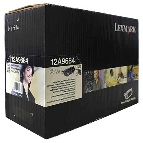 Original Lexmark 12A9684 T62x Black Return Program High-Yield Toner Cartridge Taa