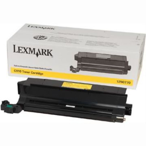 Original Lexmark 12N0771 High-Yield Laser Toner Cartridge Black