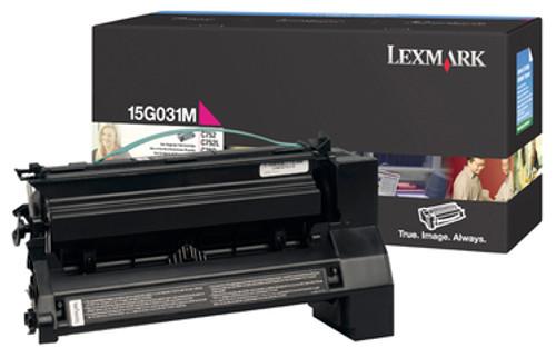 Original Lexmark 15G031M C752 Magenta Toner Cartridge
