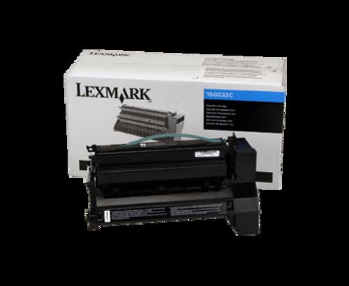 Original Lexmark 15G032C C752 Cyan High Yield Toner Cartridge