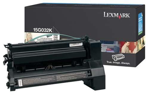 Original Lexmark 15G032K C752 Black High-Yield Toner Cartridge