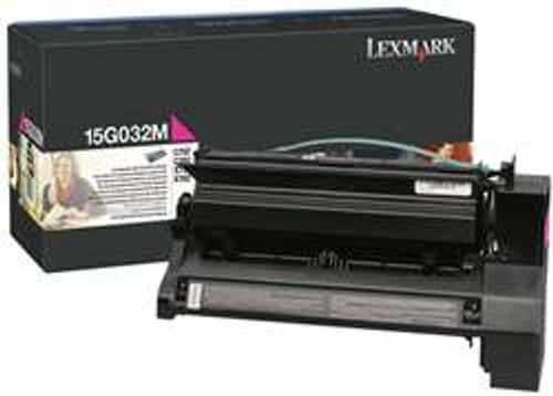 Original Lexmark 15G032M Magenta High Yield Toner Cartridge