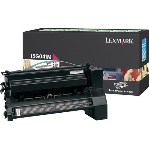 Original Lexmark 15G041M *RP Toner Cartridge  Magenta