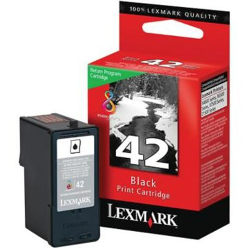 Original Lexmark #42 18Y0142 Return Program Ink Cartridge  Black