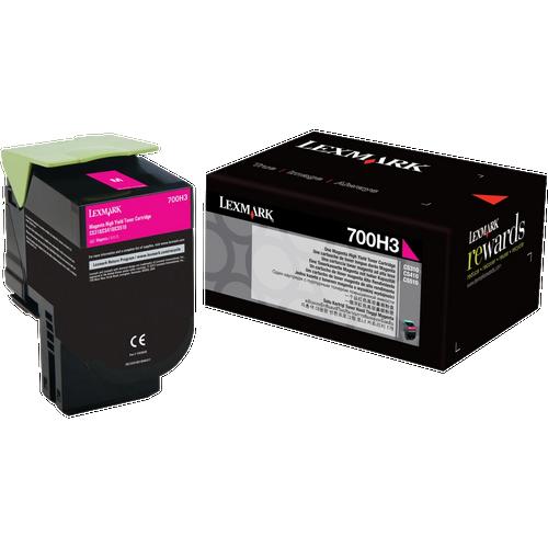 Original Lexmark 700H3 70C0H30 Magenta High-Yield Toner Cartridge