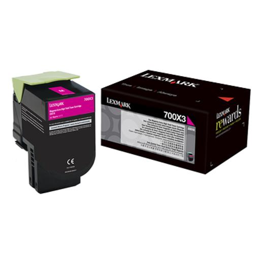 Original Lexmark 70C0X30 700x3 Mgt Extra High-Yield Toner Cartridge Unison