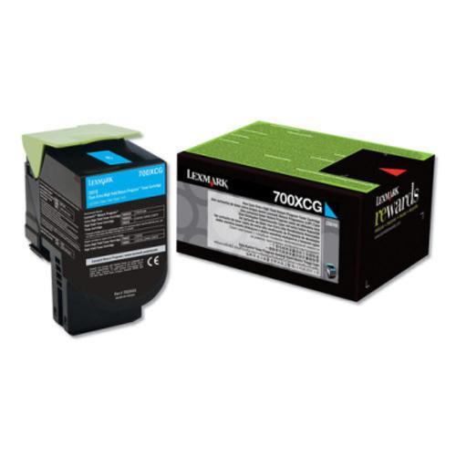 Original Lexmark 70C0XCG Unison 701xc Return Program Cyan X-High-Yield Toner Cartridge