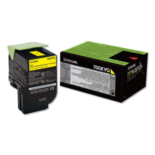 Original Lexmark 70C0XYG Unison 700XYG Return Program Yellow Extra High-Yield Toner Cartridge