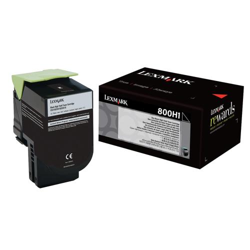 Original Lexmark 80C0H10 800H1 Black High-Yield Toner Cartridge for CX410e CX410de CX410dte