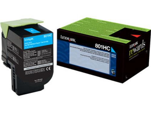 Original Lexmark 80C1HC0 801hc Cyan Return Program High Yield Unison