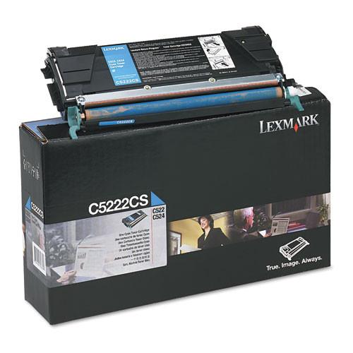 Original Lexmark C5222CS C522/24 Cyan Toner Cartridge
