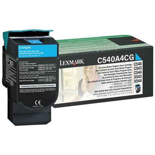 Original Lexmark C540A4CG C54X/X54X Cyan Return Program Toner Cartridge Taa