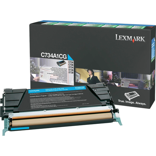 Original Lexmark C734A1CG *RP Laser Toner Cartridge  Cyan