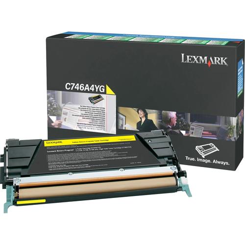 Original Lexmark C746A4YG C746/C748 Yellow Return Program Toner Cartridge Taa