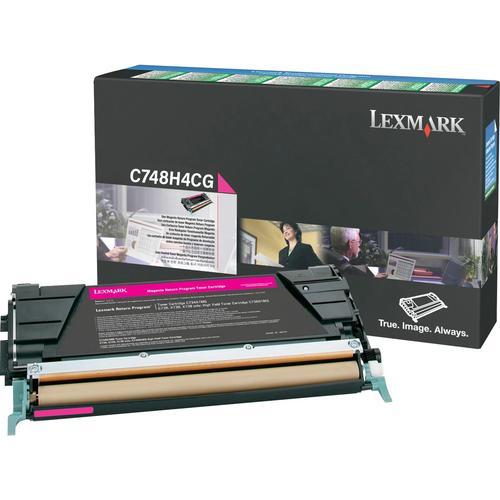 Original Lexmark C748H4MG C748 Magenta Return Program High-Yield Toner Cartridge