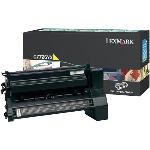 Lexmark C7726YX C772 Yellow Return Program Extra High Yield Toner Cartridge Taa